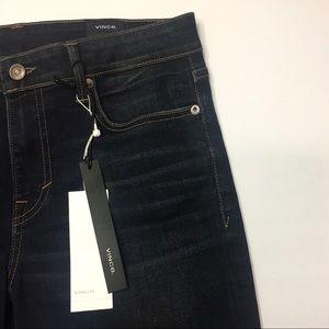 NWT VINCE | Crop Flare Stretch Dark Wash Jeans 28